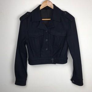 BDG Navy Blue Pea Wool Coat XS